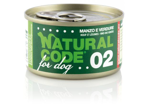 Cibo per cani: manzo e verdure